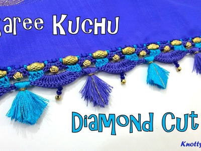 How to make Saree Kuchu - Diamond Cut Design using Silk Thread at Home| Tutorial !!