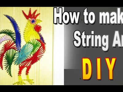How To Make String Art. Beautiful rooster. Do it yourself - it's just. Sekretmastera