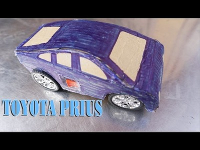 How To Make Toy TOYOTA PRIUS - Electric Car DIY For Kids Very Easy