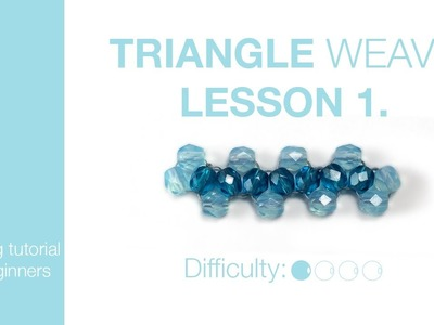 How to make triangle weave - lesson 1