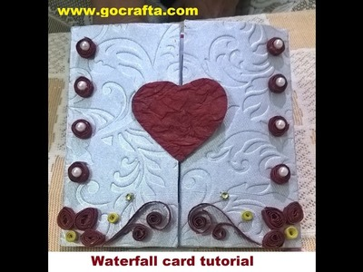 How to make waterfall card:easy step by step tutorial