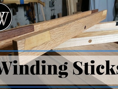 How to Make Winding Sticks Long Format Hand Tool Woodworking Project