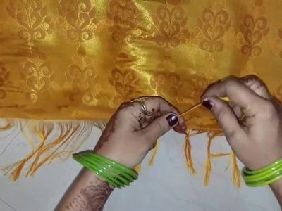 How to tie Knots on Saree Pallu (साड़ी के पल्लू में गाँठ कैसे बाँधते है)