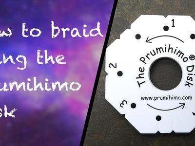 How to use the Prumihimo disk to make kumihimo jewellery