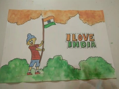Indian Flag Patriotic Drawing Idea For Kids | How To | Craftlas