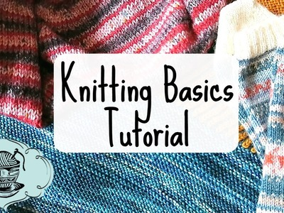 Knitting Basics Tutorial: How to Cast On, Knit, Purl and Bind Off! ¦ The Corner of Craft