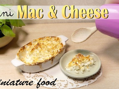 Miniature Mac And Cheese Tutorial. DIY Miniature Food. sugarcharmshop