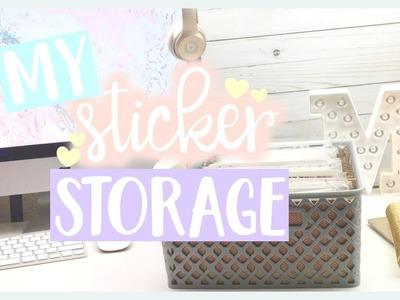 My Sticker Storage ❤️ How to organize your sticker stash!