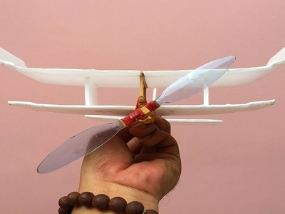 Simple & Fun Life Hacks - How to Make a Rubber Band Fighter Plane (World War Plane)