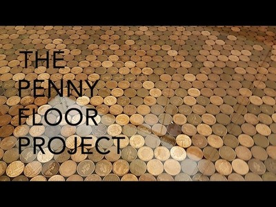 The UK Penny Floor Project | How we took 27,000 1p coins and created a penny floor