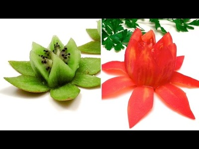 Creative ideas: How to Make Tomato & Kiwi Lotus Flowers (HD)