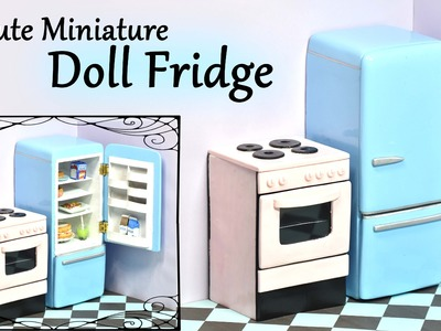 Cute, Miniature Doll Fridge - Polymer clay. Wood Tutorial