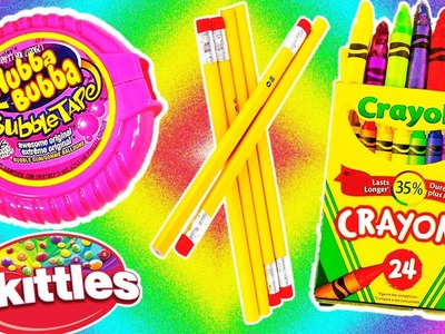 DIY: 7 Sweet Edible School Supplies HACKS! Super Cool & Tasty Treats!