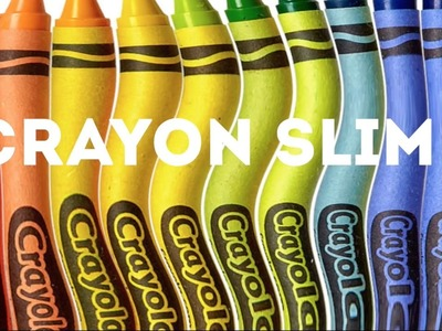 DIY Crayon Slime Without Borax, Shaving Cream or Detergent!