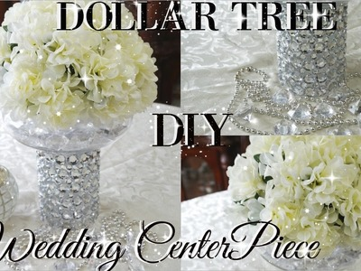 DIY DOLLAR TREE BLING FLORAL WEDDING CENTERPIECE 2017 | PETALISBLESS