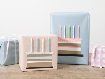 DIY: Gift wrapping idea for birthdays by Søstrene Grene