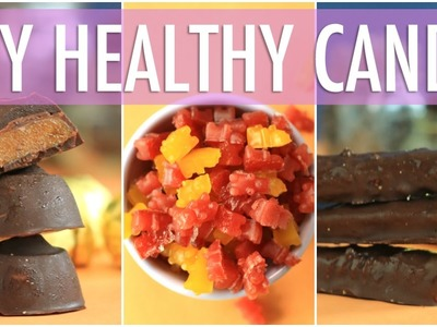 DIY HEALTHY HALLOWEEN TREATS | Homemade TWIX, ROLO & GUMMY BEARS