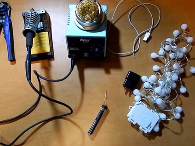 DIY How to convert battery powered lights to AC powered!