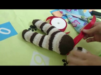 DIY How to make a doll of socks