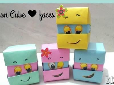 || DIY || How to make  emotion changes cubes with  paper only||