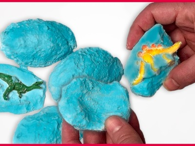 DIY How to Make Fizzy Surprise Dinosaur Eggs