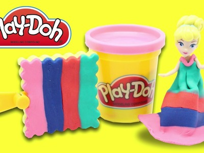 DIY How to Make Play Dough Ice Cream Popsicles Modelling Clay Learn Colors w Princess Dress