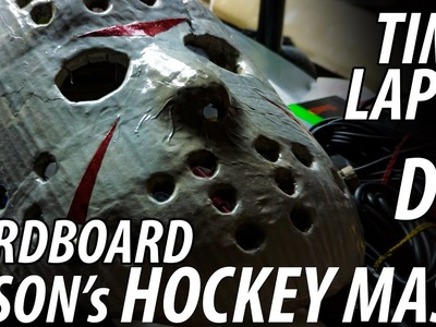"DIY Jason's Hockey Mask from Friday the 13th made from Cardboard ""MUST SEE"" Time Lapse"