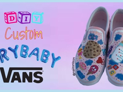 DIY Melanie Martinez CUSTOM Vans | DIY Custom Fandom Merch !! (Time lapse)