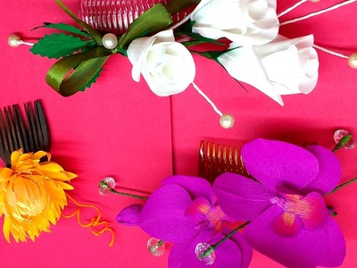 Diy Paper Flowers Hair Comb