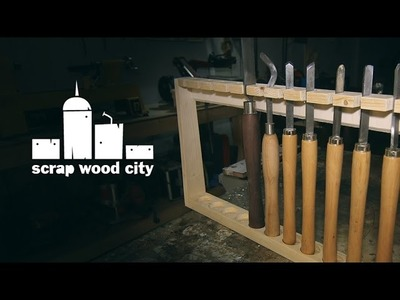 DIY rack for my woodturning tools