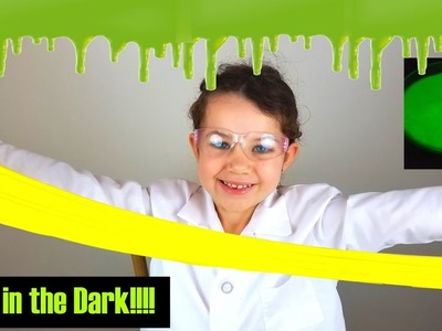 DIY Slime Silly Putty Easy Science Projects Experiments for Kids Glow In The Dark | The Science Kid