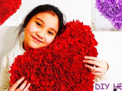 DIY: VALENTIJN HART ZELF MAKEN!!! Valentine's  Day Heart Crafts.