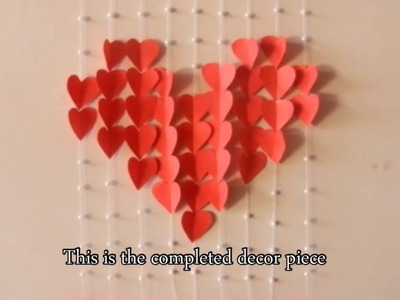 DIY wall decor piece. Valentine special. English subtitles
