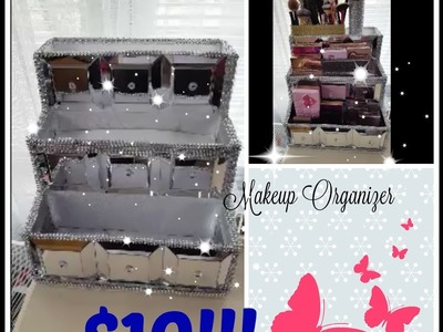 Dollar Tree DIY | Makeup Organizer Storage | Do it yourself