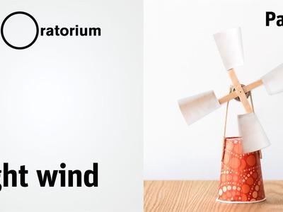 Easy DIY wind turbine   Light Wind - Science Snack activity