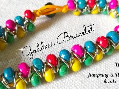 Goddess bracelet   jumpring n wooden bead bracelet   part - 1