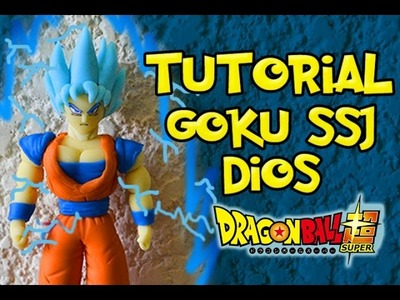 GOKU SSJ  BLUE SUPER SAIYAN- Tutorial.Polymer clay.DIOS. How to make. Dragon ball Super.Figura.DBZ