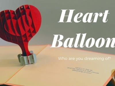 Heart Air Balloon by Paper Pop Cards