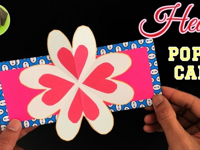HEART POPUP Card  for Valentine's day - Easy DIY Tutorial by Paper Folds #701