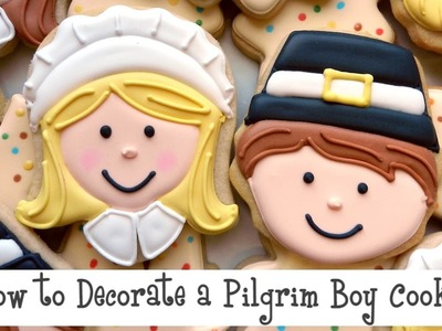 How to Decorate a Pilgrim Boy Cookie