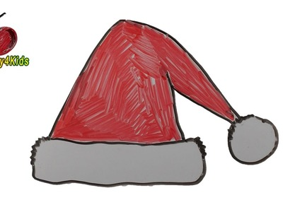How To Draw A Santa Claus Hat Step by Step Easy for Kids