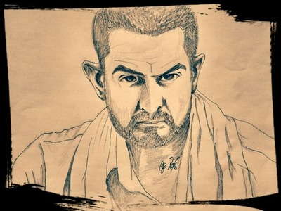 How to draw Aamir Khan - Dangal