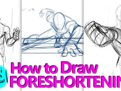 HOW TO DRAW FORESHORTENING - A Process Tutorial
