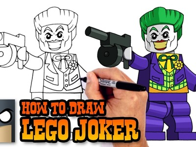 How to Draw Lego Joker | Lego Batman Movie