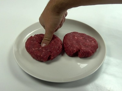 How to keep your burger from shrinking when cooking it
