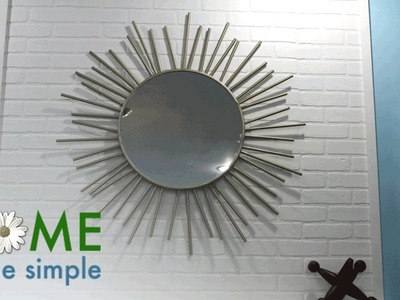 How to Make A Beautiful Starburst Mirror   Home Made Simple   Oprah Winfrey Network