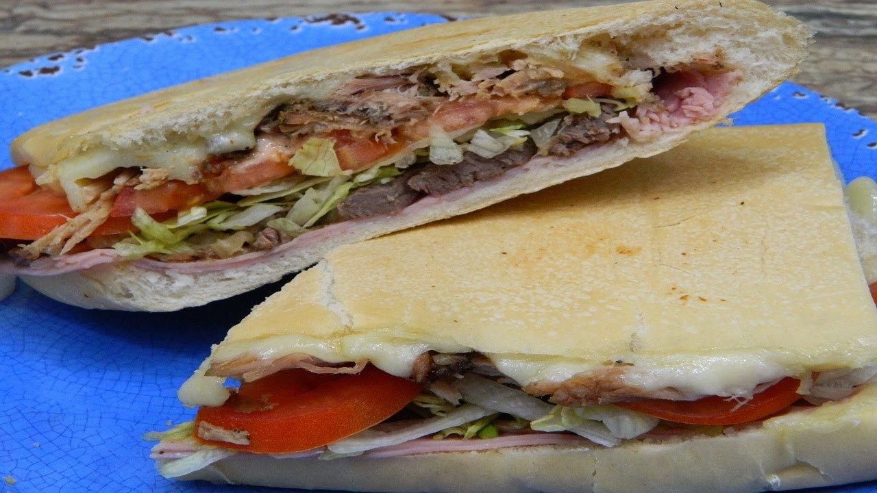 How to make a Boricua style Tripleta Sandwich(Triple meat sandwich)