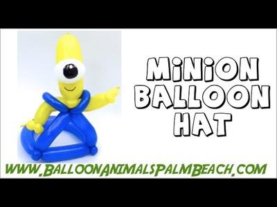 How To Make A Minion Balloon Hat - Balloon Animals Palm Beach