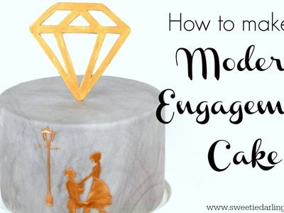 How To Make A Modern Engagement Cake