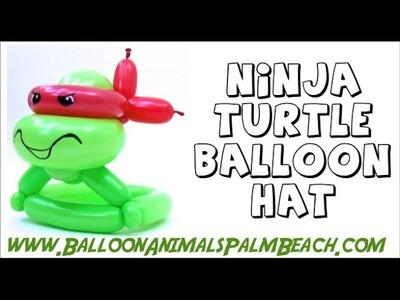 How To Make A Ninja Turtle Hat Balloon - Balloon Animals Palm Beach